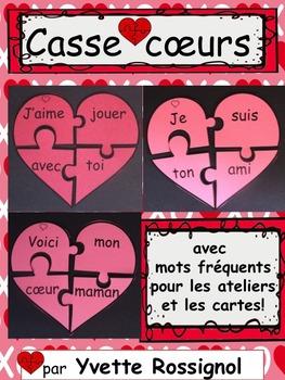 Casse-coeurs! (avec mots fréquents, Saint-Valentin, atelie