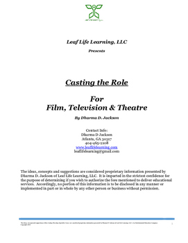 Casting the Role