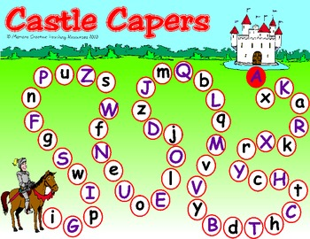 Castle Capers {Upper and Lower Case Letter Knowledge}