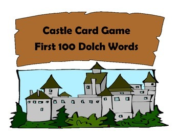 Castle Dolch Word Card Game- 1st 100 words