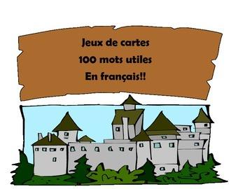 Castle Sight Word Card Game- en français