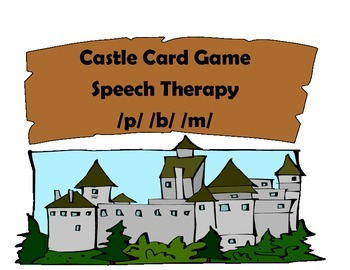 Castle Speech Therapy Card Game P,B,M