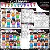 Casual Kids Clip Art Bundle (3 Sets)