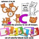 Cat Clip Art with Signs - letter C in Alphabet Animal Series