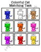 Cat Color Matching Folder Game for students with Autism