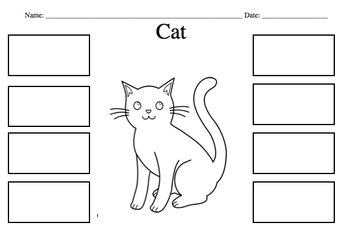 Cat Diagram: Cut Glue and Label