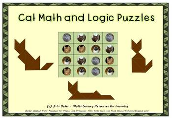 Cat Pack: No Prep Visual Maths & Puzzles for Middle Primary