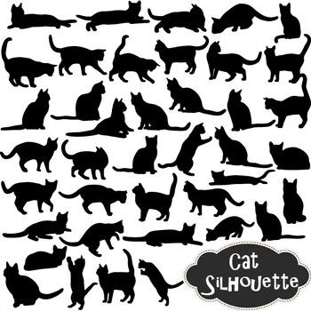 Cat Silhouette Clip Art Black Kitty Silhouette Clipart Scr