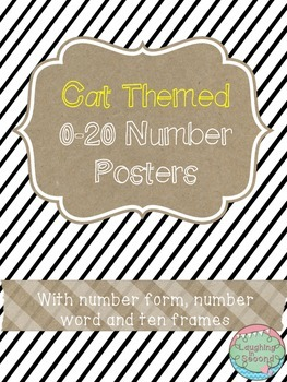 Cat Themed 0-20 Numbers Posters
