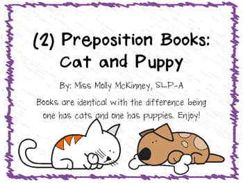 Cat and Puppy Prepositions