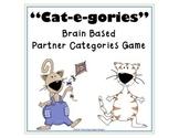 "Word Work Reading Game ""Cat-e-gories"" Brain Based"