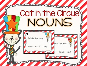 Cat in the Circus Noun Task Cards