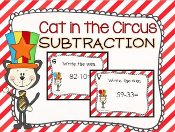 Cat in the Circus Subtraction Task Cards