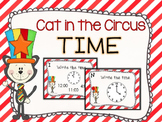 Cat in the Circus Time Task Cards- Time to the Hour and Half Hour