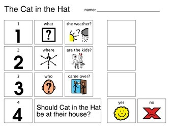 Cat in the Hat Comprehension packet