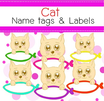 free Cat name tags&labels clip art