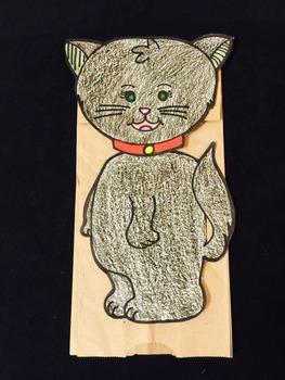 Cat paper bag character pattern