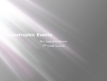 Catastrophic Events PPT