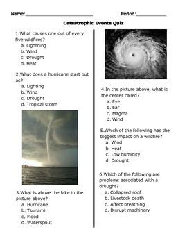 Catastrophic Events Quiz