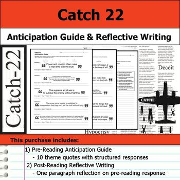 Catch-22 - Anticipation Guide & Post Reading Reflection