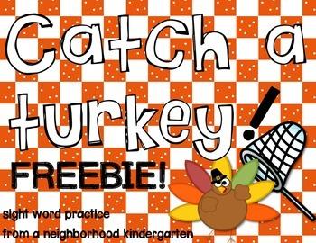 Catch a Turkey: Sight Words