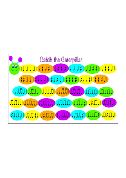Catch the Caterpillar - Rhythm Game - Quarter Notes and Re