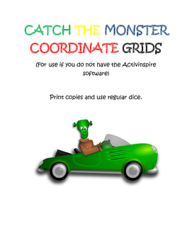 Catch the Monster Coordinate Grid Activity