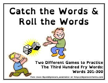 Catch the Words and Roll the Words - Word Work Games for F