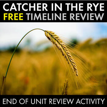 Catcher in the Rye, FREE Timeline Review Worksheet for J.D