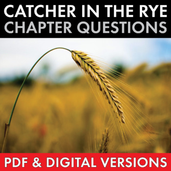 Catcher in the Rye, Worksheets Quizzes Discussion & HW for