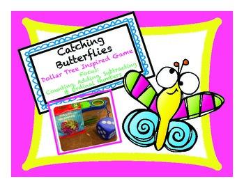 Catching Butterflies Math Centers: Dollar Tree Inspired