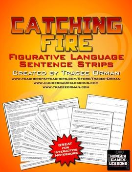 Catching Fire Figurative Language Sentence Strips