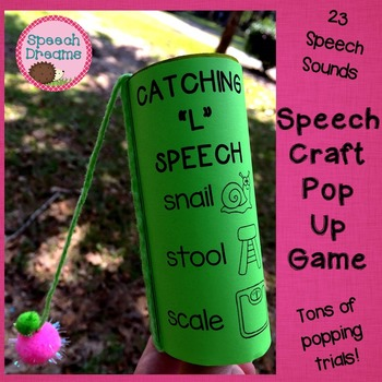 Catching Great Speech Craftivity {game craft motor activity fun}