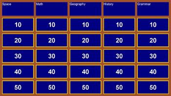 Jeopardy: Categorical Q&A Game