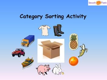 Categories Activity Set