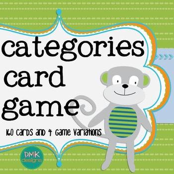 Categories Card Game