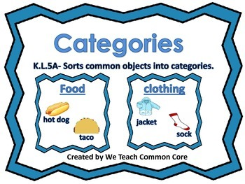 Categories-Classifying and Sorting Objects Literacy Word W