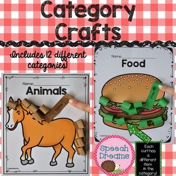 Categories Crafts {Expressive Receptive Language Visual Ob