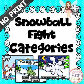 No Print Categories Snowball Fight Game