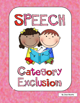 Speech Therapy - Category Exclusion - Which object doesn't