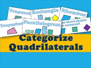 Categorize Quadrilaterals PowerPoint