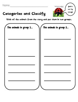 Categorize and Classify Eric Carle- Differentiated