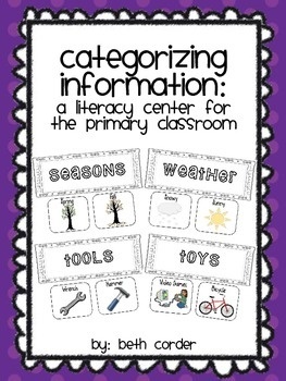 Categorizing Information: A Literacy Center for the Primar