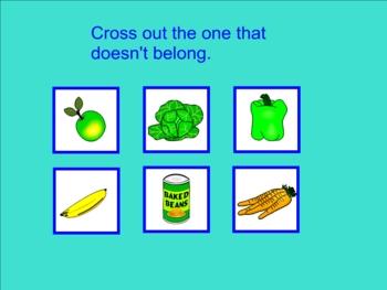 Categorizing Smartboard Lesson