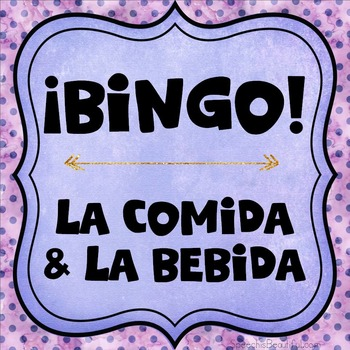 Category Bingo: Food and Drink Flashcards & Games {Spanish