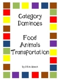 Category Dominoes - Transportation/Food/Animals