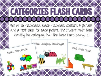 Category Flash Cards for Emergent Readers. Convergent Cate