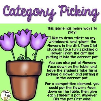 Category Picking Freebie!