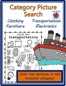 Category Picture Search  No Prep!  Great for all ages and