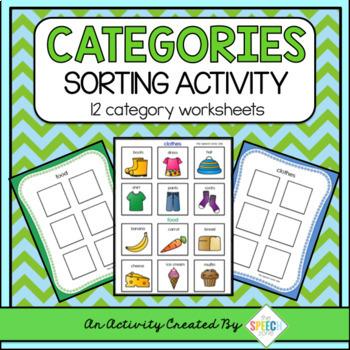 Categories Sorting Activity